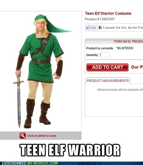 teen elf warrior costume halloween link-I-don-t-know - 6705541120