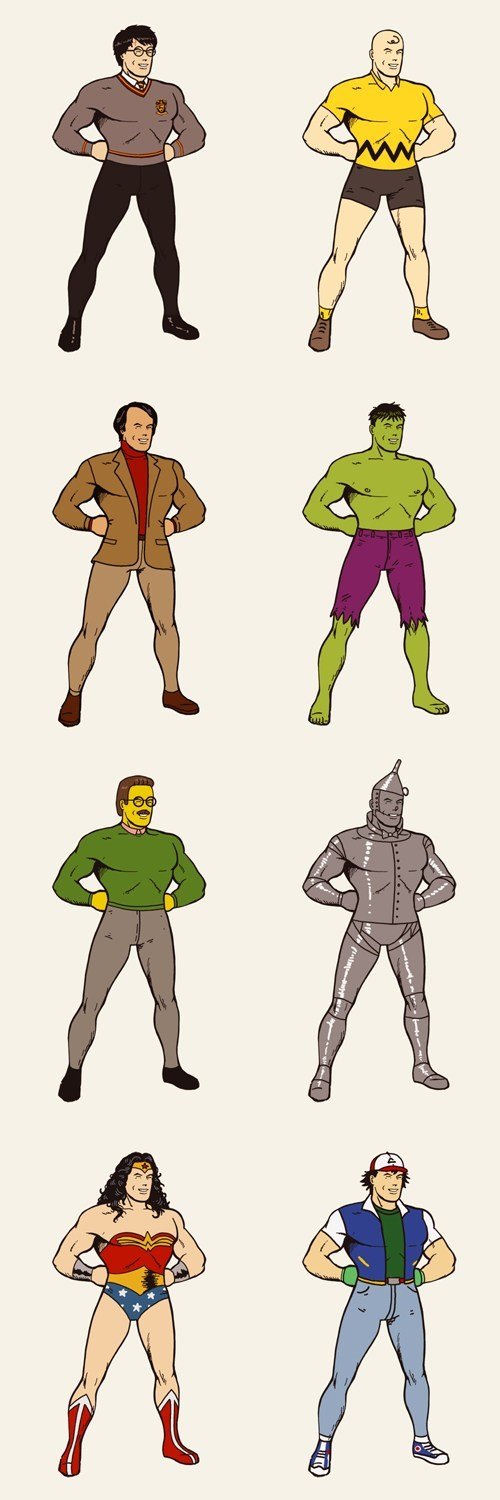 superman carl sagan Harry Potter cosplay charlie brown Fan Art hulk ash tin man wonder woman - 6705630464