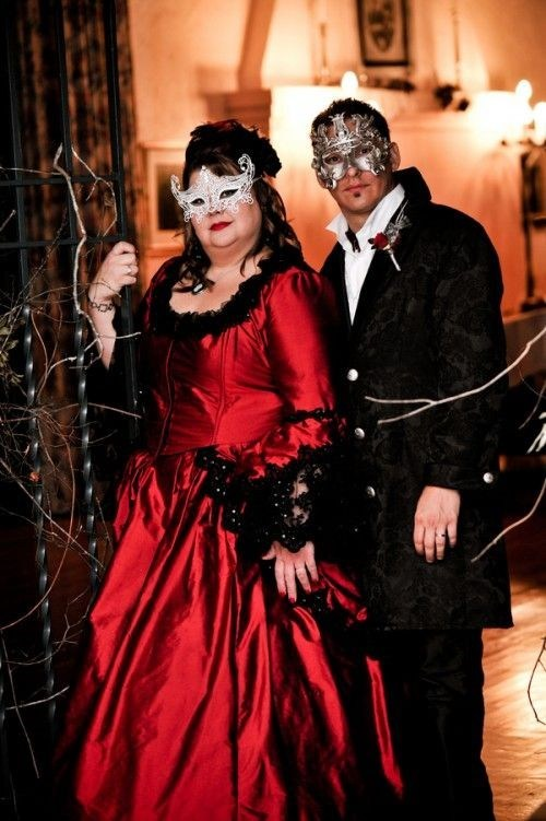 goth red drama halloween dark masquerade - 6705664768