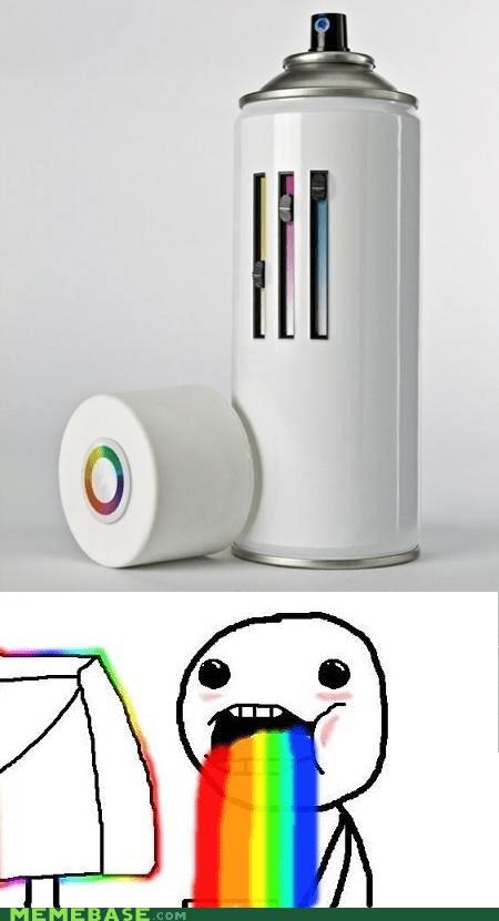 spray paint rainbow colors amazing - 6705721344
