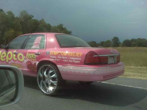 pepto bismol custom car paint job