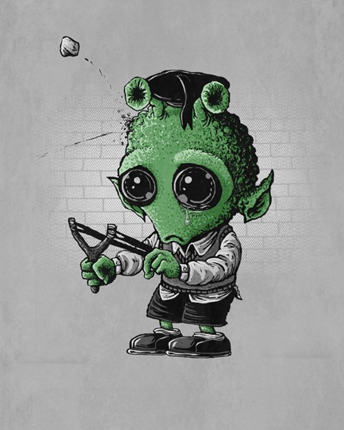 star wars greedo slingshot kid Sad shot first - 6705808384