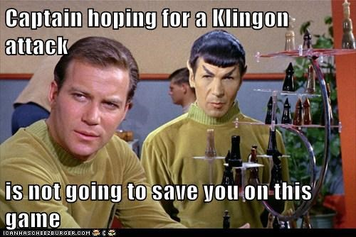 hoping Captain Kirk Spock losing Leonard Nimoy chess William Shatner Shatnerday klingon - 6706040064