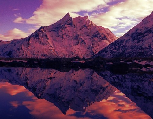Norway,reflection winter,lake,mountain