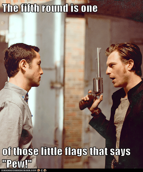 joe pew gun bullets Joseph Gordon-Levitt flag looper