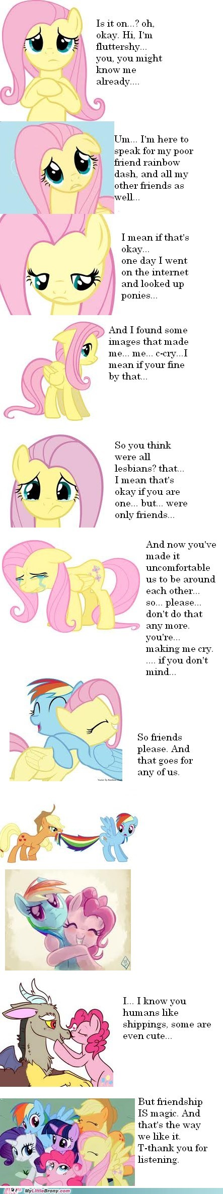 ponies Bronies just wanted to say fluttershy this made me clop - 6706125312