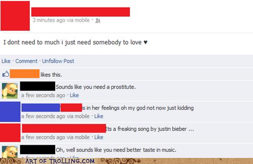 Music,facebook,justin bieber