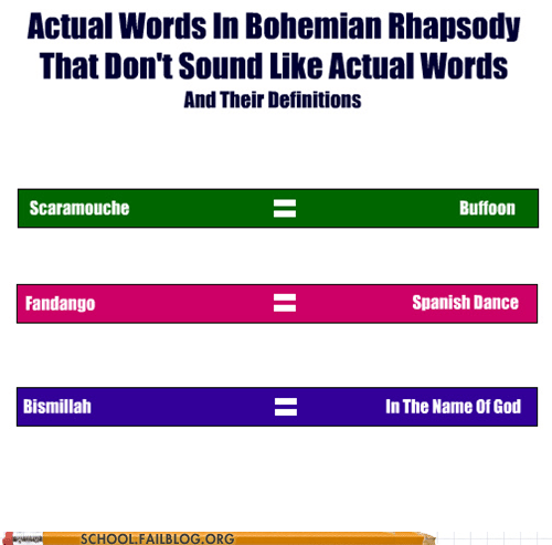 Songs dictionary bohemian rhapsody no escape - 6706382848