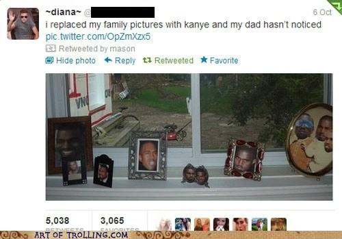 twitter,kanye,family photos