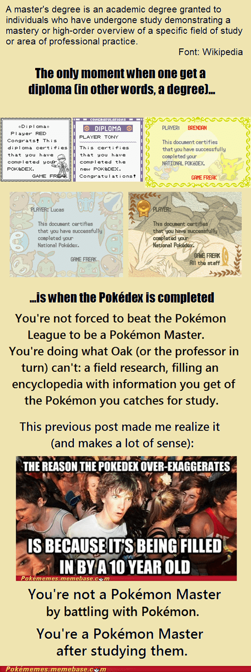 degree,pokedex,diploma,battling,research