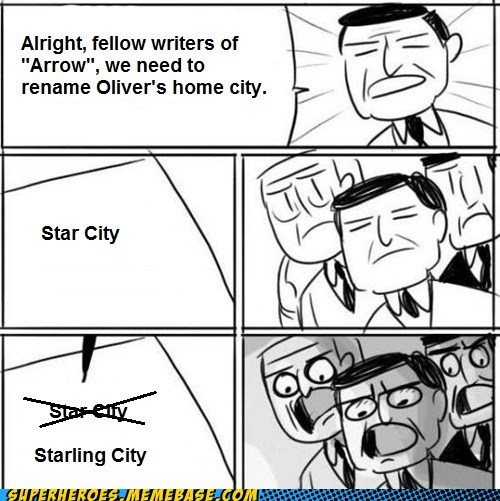 arrow wtf star city idiots name - 6706506240