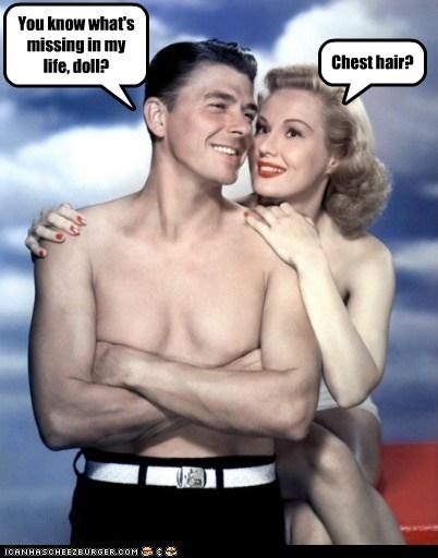 chest hair shirtless Ronald Reagan - 6706587392