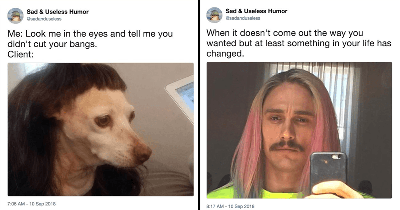 Funny memes about haircuts.