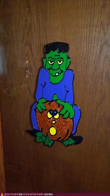 halloween frankenstein butt secks decoration jack-olantern - 6707189504