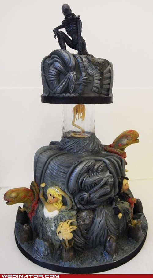 cake,horror,scary,alien