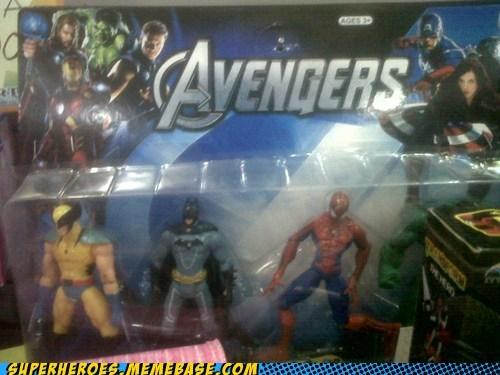 Spider-Man toys batman wolverine avengers - 6707529984