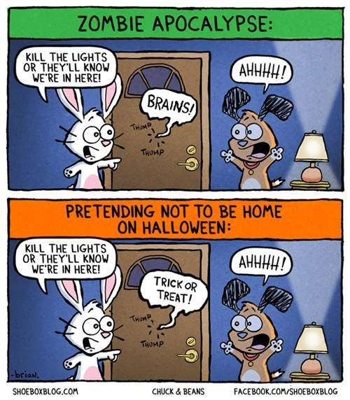 comic,zombie,tick or treat