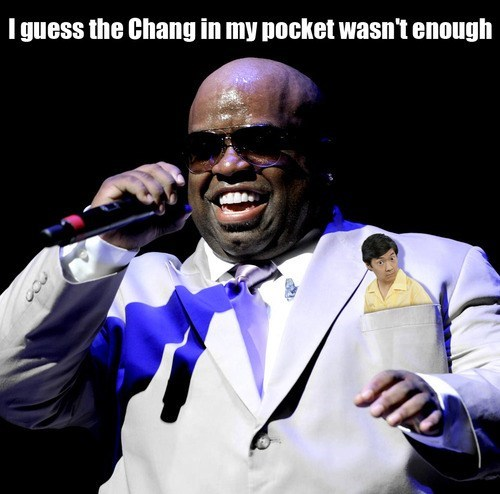 fck-you cee-lo green shoop ken jeong community similar sounding literalism cee lo change chang