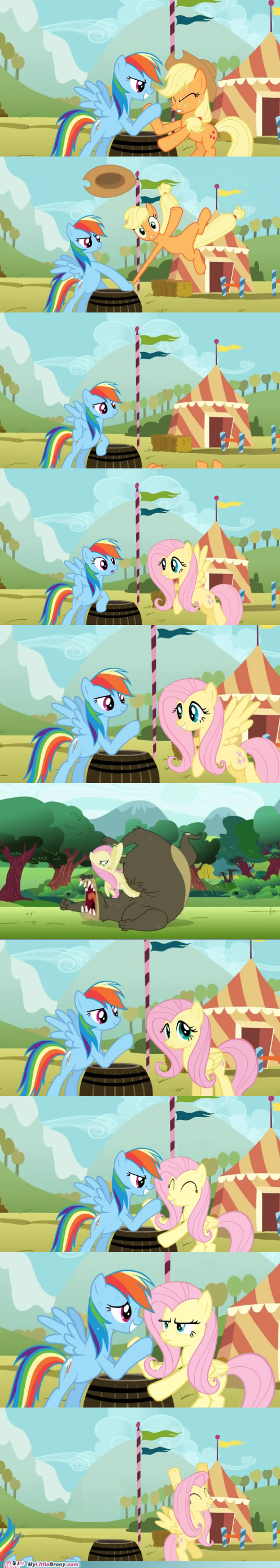 no chance,bear,comic,fluttershy