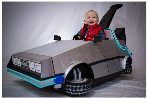 baby,back to the future,DeLorean