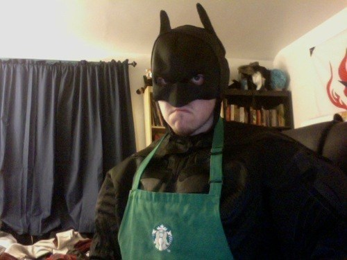 barista batman bruce wayne Starbucks TDKR the dark knight rises - 6707925504