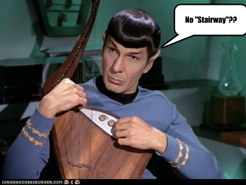Music Spock stairway to heaven instrument Leonard Nimoy Star Trek no