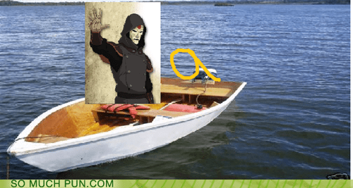 on amon im literalism homophones The Legend of Korra boat double meaning bad pun - 6708060160