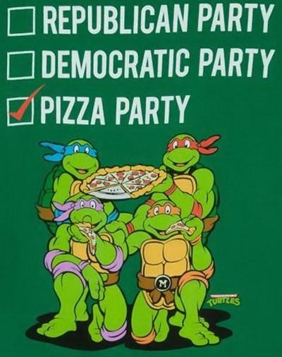 election pizza party teenage mutant ninja turtles TMNT - 6708073216