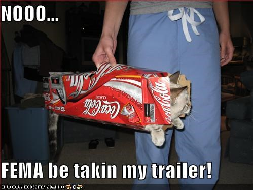 cat carrier coca cola fema lolcats trailers