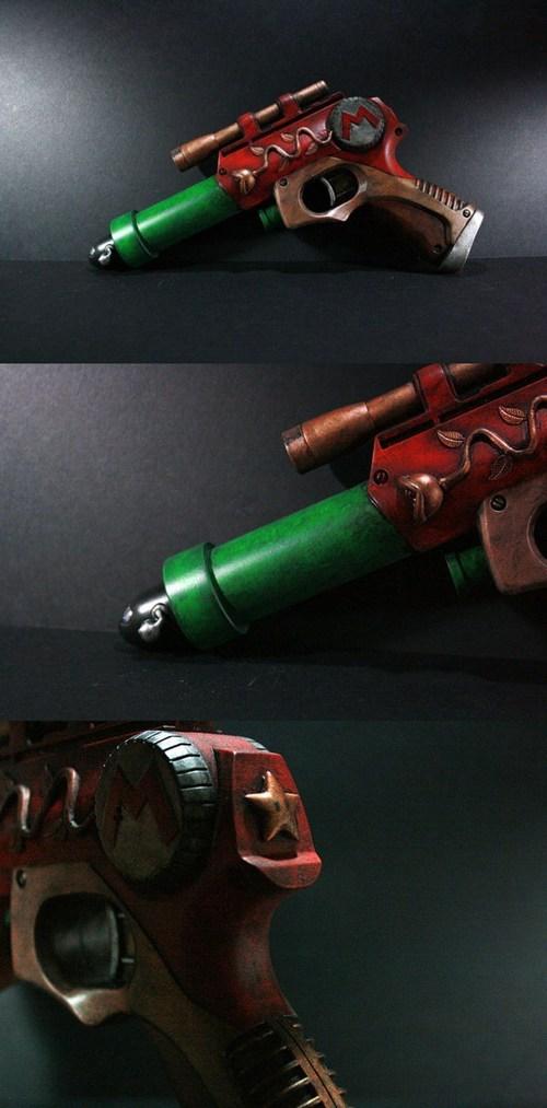 mario,mod,gun,Nerf,Steampunk