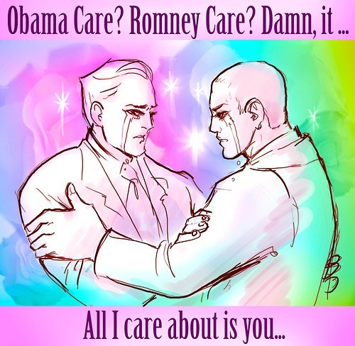 obamacare shipping slash care Romneycare otp love hug