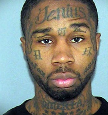 mug shots,face tattoos,genius