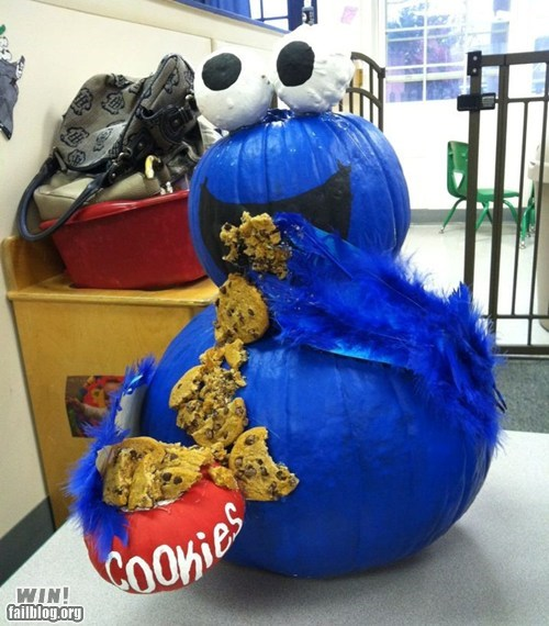 pumpkins,Cookie Monster,halloween,om nom nom