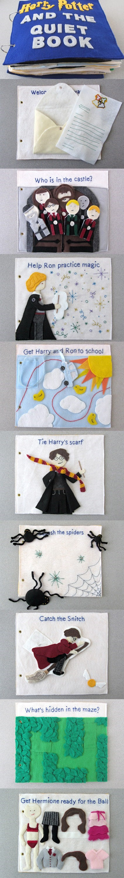quiet book,activities,felt,Harry Potter,kids,cute