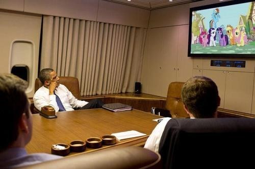 relaxing Bronies TV my little pony friendship is magic barack obama watching