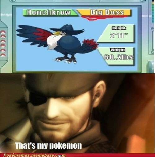 Pokémon,big boss,metal gear,honchknow