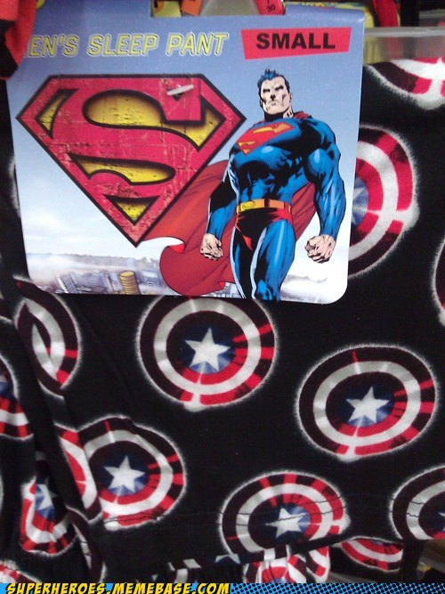 wrong pajamas captain america superman - 6708749312