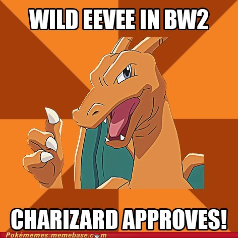 charizard eevee blackwhite-2 meme thumbs up
