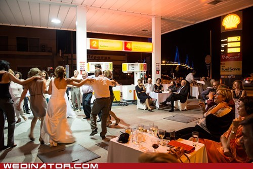 gas station shell station dance reception