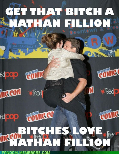 nathan fillion chicks love - 6711619328