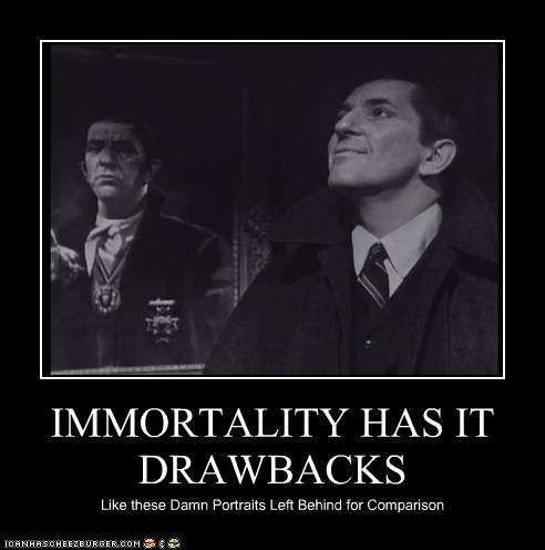 dark shadows vampire portraits drawbacks barnabas collins jonathan frid immortality