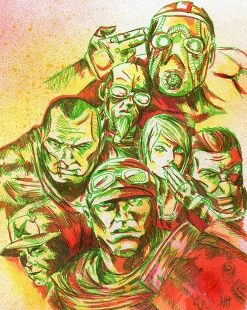 borderlands,Fan Art,video games
