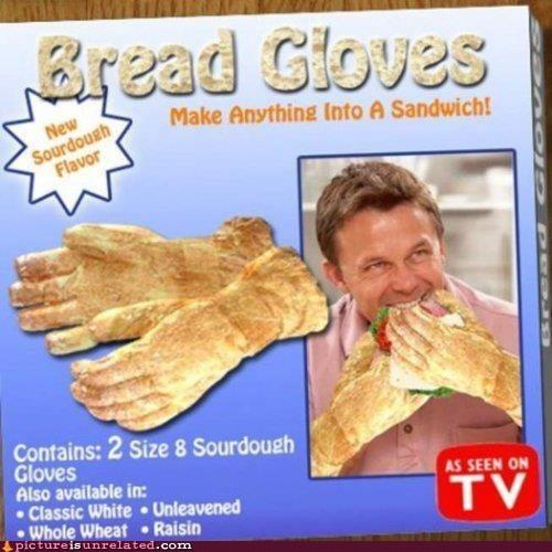 gloves hands sandwich bread - 6713605120