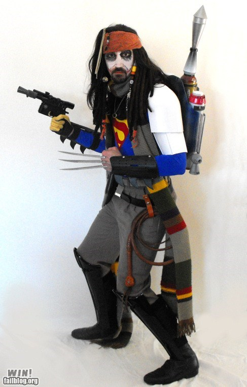 costume doctor who Harry Potter halloween jack sparrow mashup star wars nerdgasm Hall of Fame best of week - 6713845504