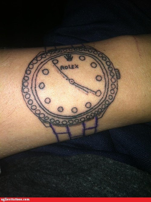 wrist watch,wrist tattoos,rolex
