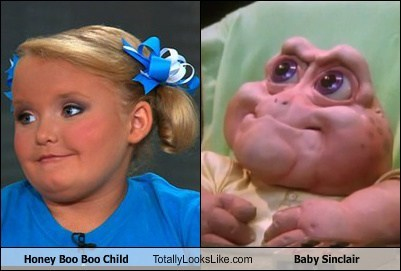 here comes honey boo boo,baby sinclair,TLL,TV,honey boo-boo,reality tv,funny,dinosaurs