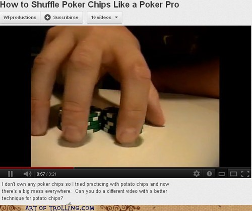 potato chips,youtube,poker chips