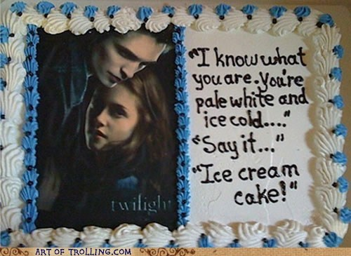 cake,quotes,ice cream,twilight