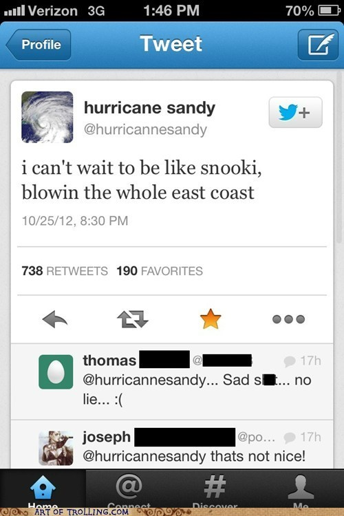 twitter,snooki,hurricane sandy