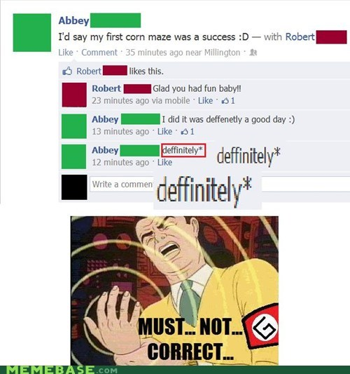 grammar nazi spelling issues facebook correction - 6714918144